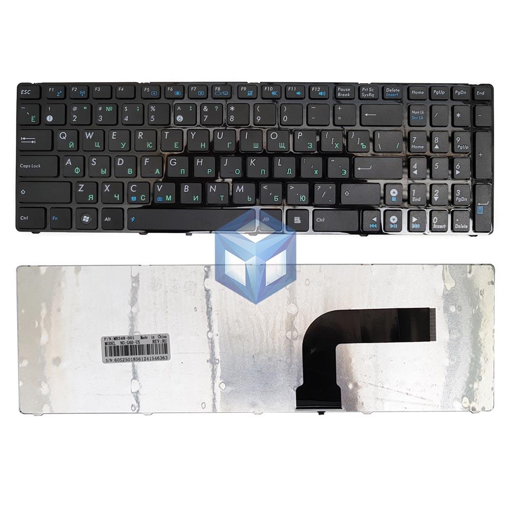 Клавиатура для ноутбука ASUS K52, A52, N53, N61, N73, N90, P53, X54, X55, X61 ver.2 RU/BLACK