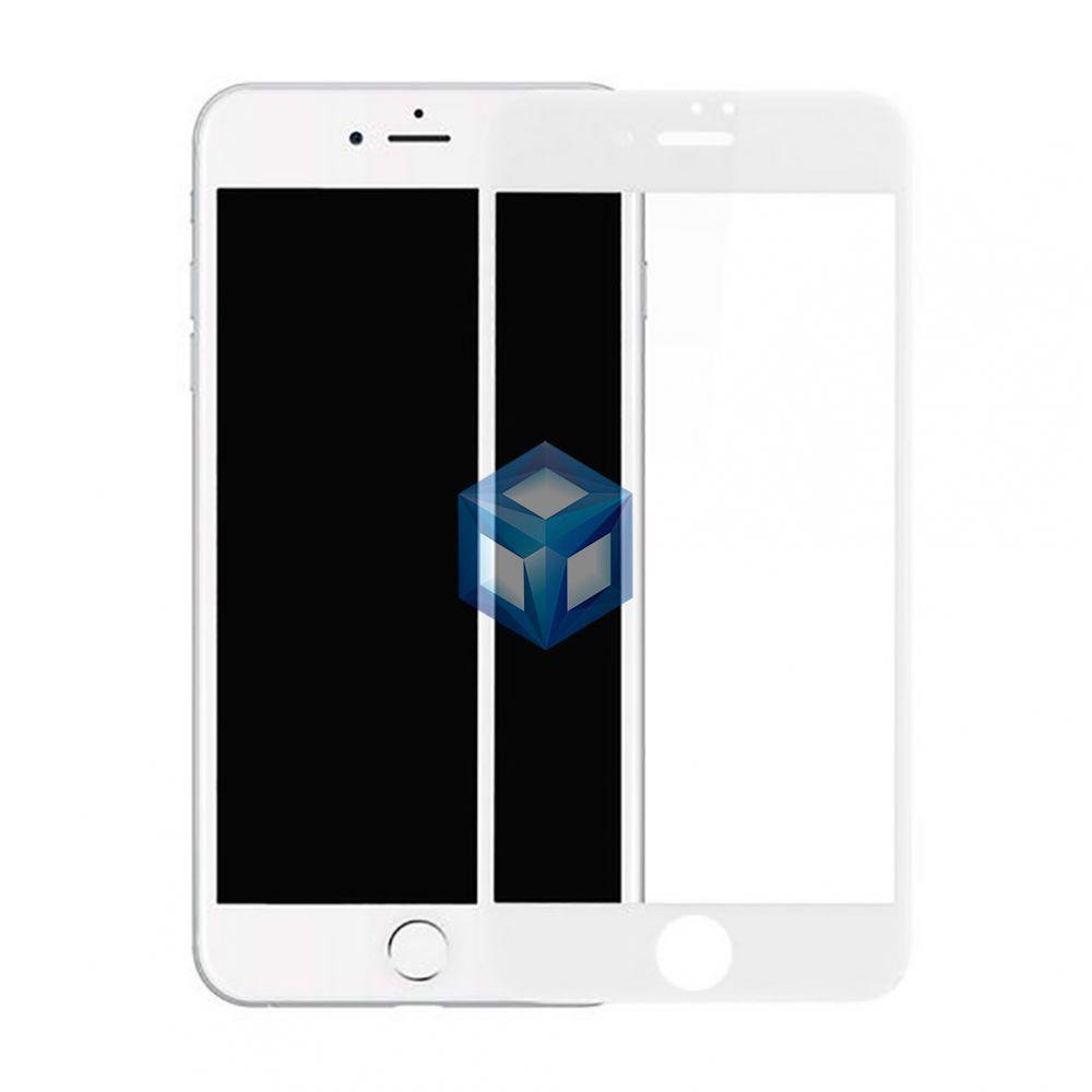 Защитное 3D, 4D стекло iPhone 7 Plus, 8 Plus белое противоударное 0.3 мм